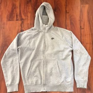 Nike Men's Zip Up Hooded Sweater Jacket Gray XL